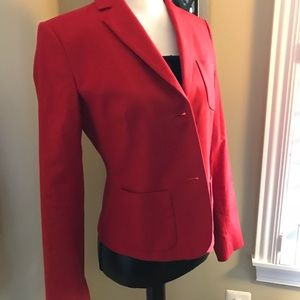 Theory red blazer size 4 new without tags